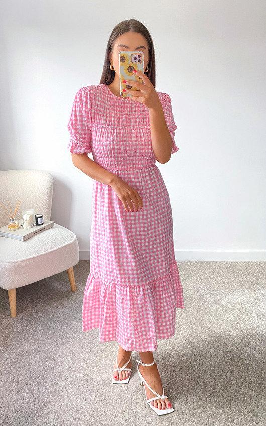 Yanni Ruffle Midi Dress