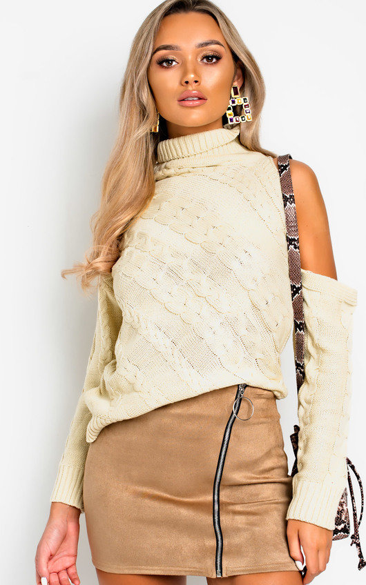 Yasmin Knitted Cut Out Jumper