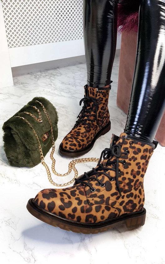 Yasmin Leopard Desert Boots