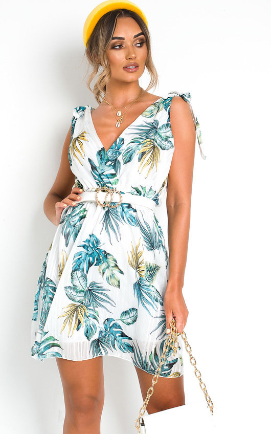 Yazzi Tropical Print Dress