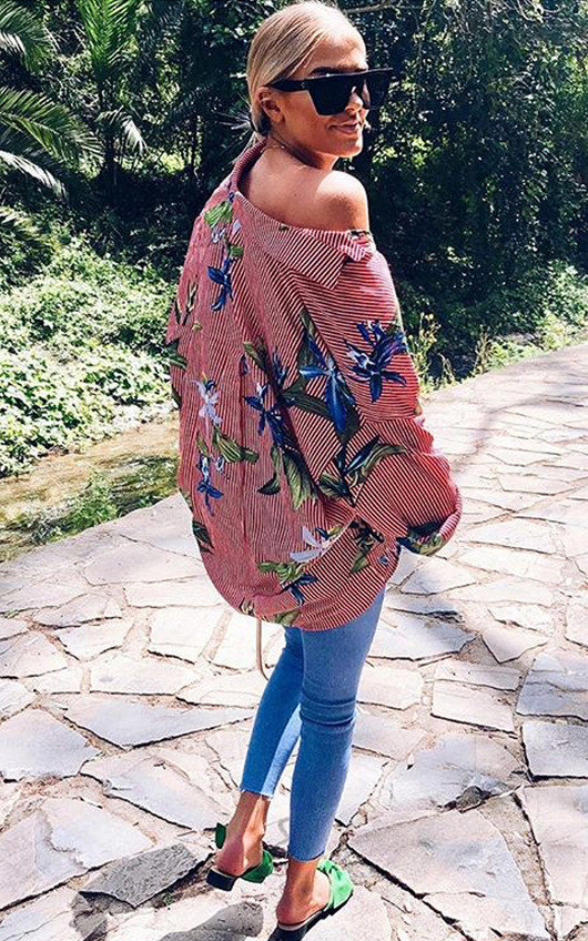 Yazzy Tropical Oversized Shirt