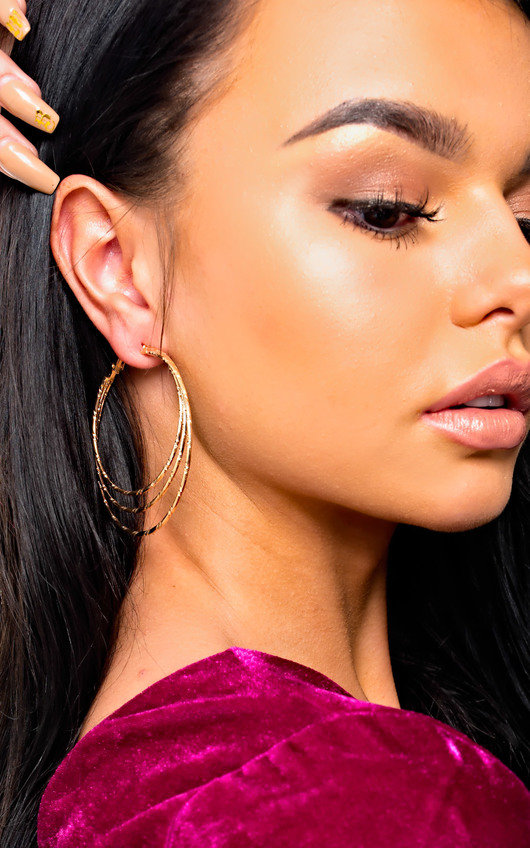 Yolanda Gold Multiple Hoop Earrings