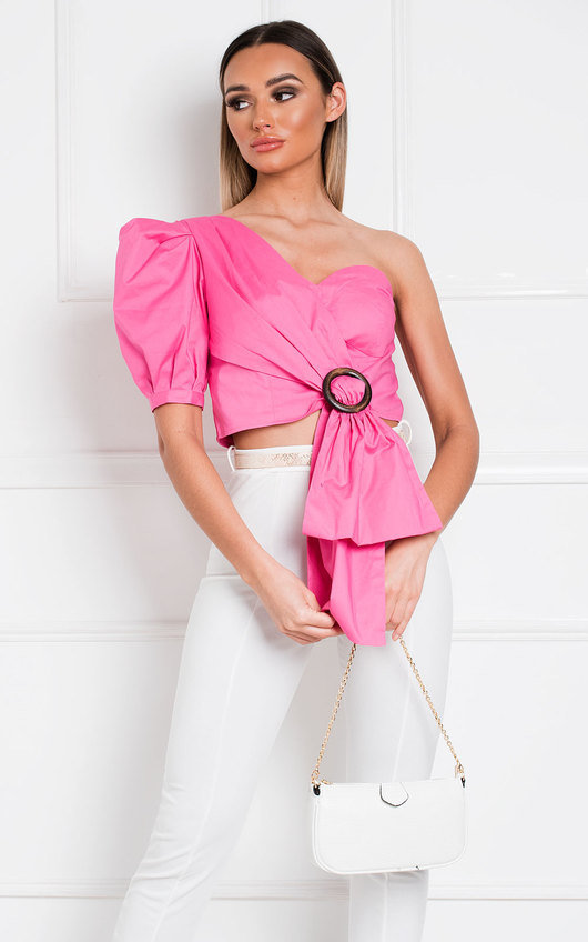 Zahra One Shoulder Crop Top