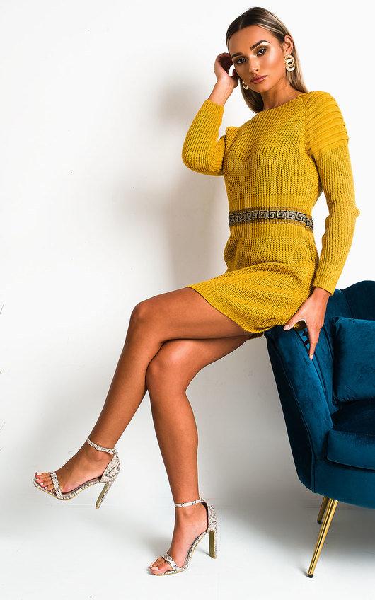 Zaniyah Knitted Jumper Dress