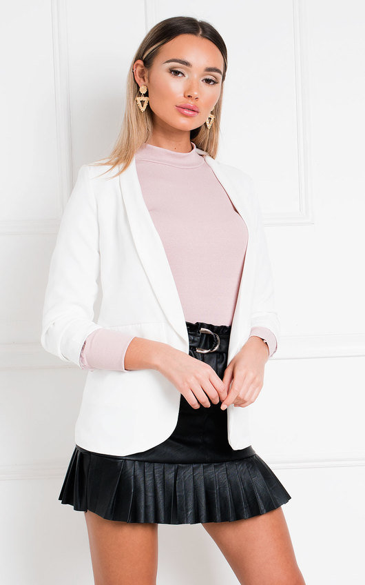 Zara Gathered Sleeve Blazer