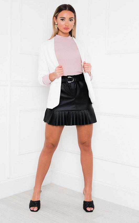 Zara Gathered Sleeve Blazer