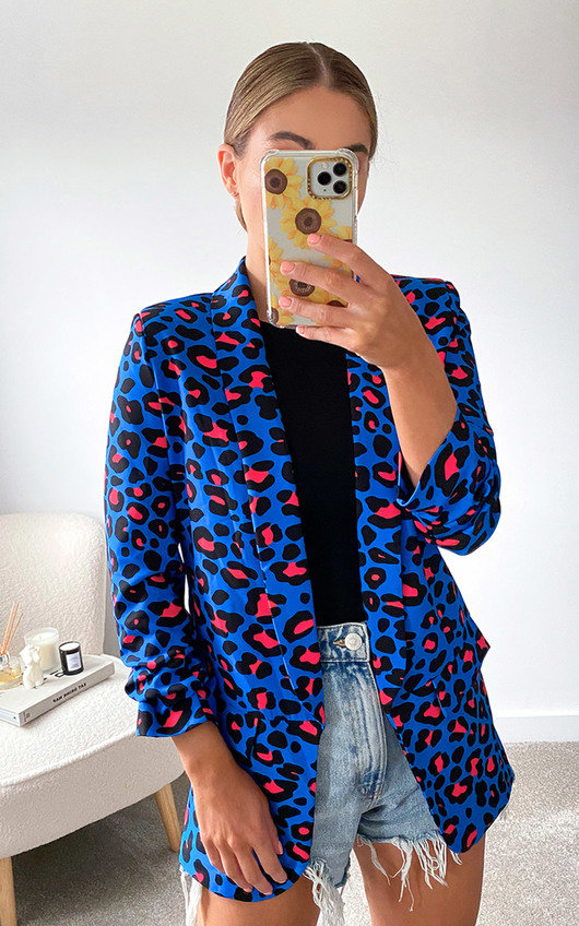 Zara Printed Blazer Jacket