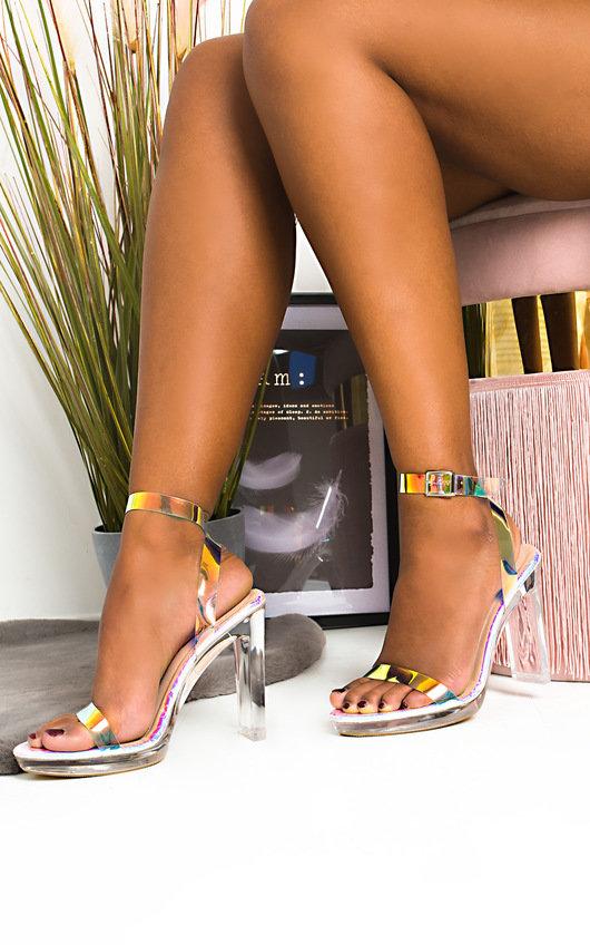 Zarah Iridescent Perspex Block Heels