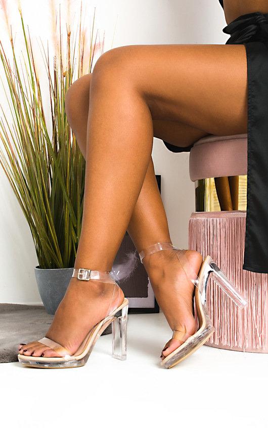 Zarah Perspex Block Heels