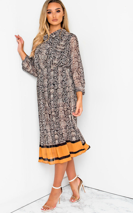 Zarah Printed Midi Dress
