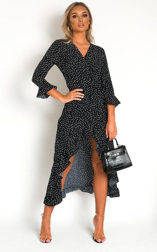 Zaza Wrap Front Midi Dress