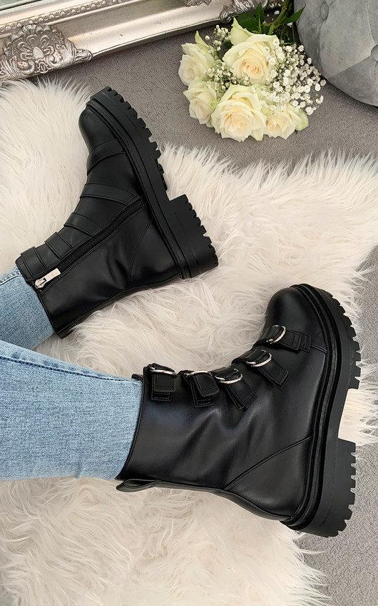 Zendaya Buckle Ankle Boots
