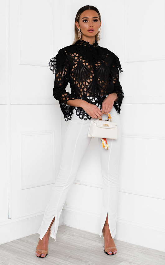 Zia Embroidered Lace Blouse