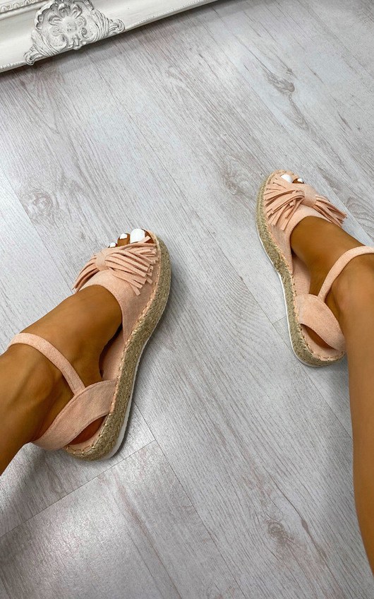 Ziv Faux Suede Fringe Sandals