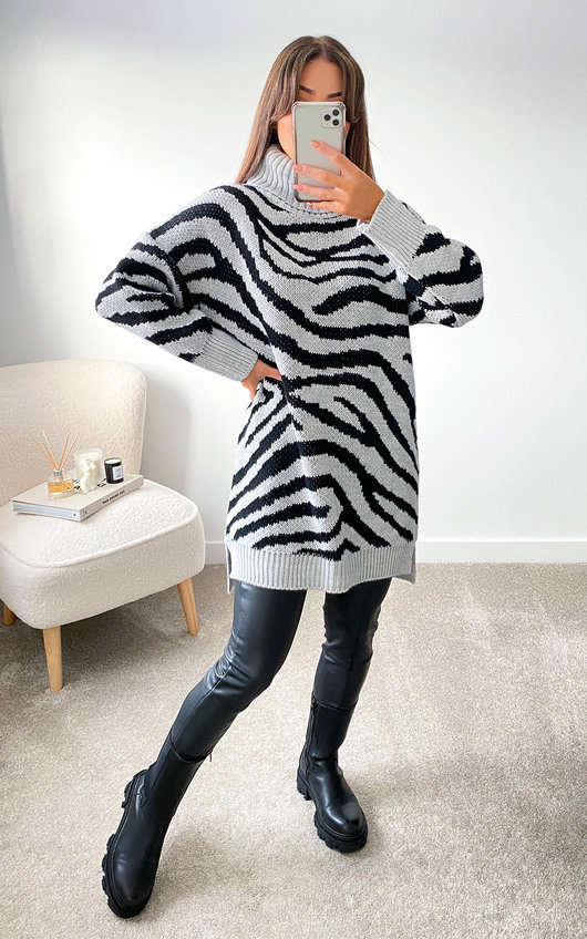 ZiZi High Neck Printed Jumper Dress
