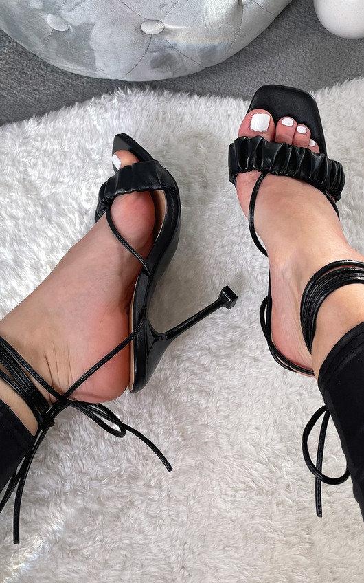 Zizi Strappy Mule Heels