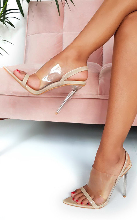 Zoe Barely There Perspex Strappy Heels