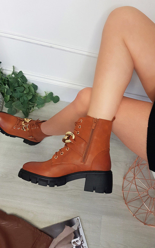 Zoe Chain Detail Chunky Boots