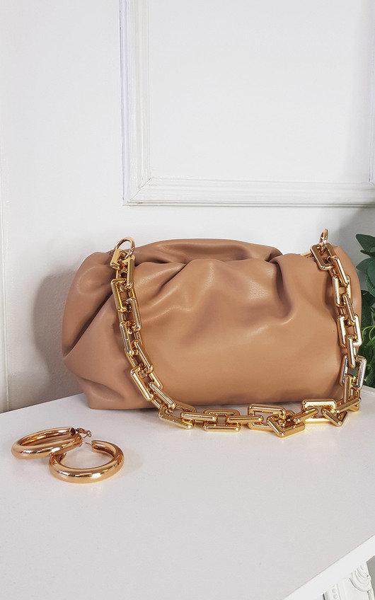 Farah Faux Leather Chain Detail Bag