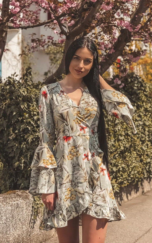 Zoey Floral Tie Wrap Dress