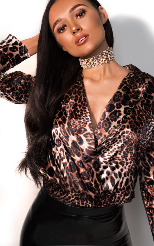 Zoey Satin Bodysuit