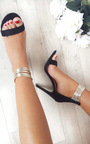 Enya Anklet Faux Suede Barely There Heels Thumbnail