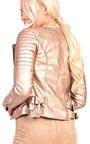 Natalia Biker Metallic Jacket Thumbnail