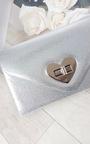 Lilly Metallic Heart Detail Clutch Bag Thumbnail