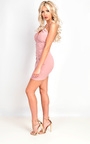 Kristy High Neck Ruched Bodycon Dress Thumbnail