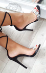 Jalena Jewelled Clear Strap Heels Thumbnail