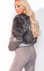 Lola Faux Fur Cropped Jacket Thumbnail