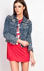 Sonya Distressed Denim Jacket  Thumbnail