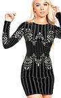 Chelsi Velour Bodycon Dress Thumbnail
