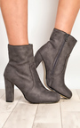 Sylvie Faux Suede Heeled Ankle Boots Thumbnail