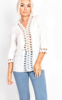 Jayla Crochet Embroidered Blouse Thumbnail