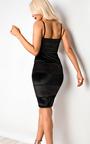 Karter Velour Panelled Bodycon Dress Thumbnail