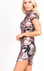 Lina Floral Bodycon Dress Thumbnail