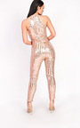 Kady Fitted Sequin High Neck Jumpsuit Thumbnail