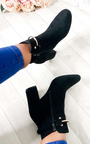 Isla Buckle Faux Suede Ankle Boots Thumbnail