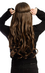 Intense Volume Clip In Hair Extensions - Curly Brunette Thumbnail