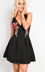 Ava Embroidered Skater Dress Thumbnail