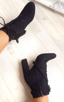 Kiki Faux Suede Lace Up Tassel Ankle Boots Thumbnail