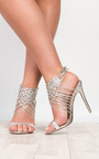 Mandy Lace Up High Heels Thumbnail