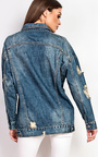 Kris Distressed Denim Jacket  Thumbnail