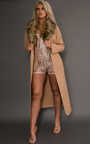 Jude Faux Fur Collar Coat  Thumbnail
