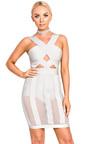 Dash Cut Out Mesh Detail Bandage Dress Thumbnail