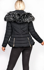 Poppy Padded Fur Collar Jacket Thumbnail