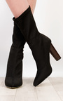 Flossie Knit Heeled Boots  Thumbnail