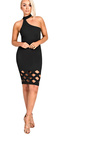 Cherie High Neck Cut Out Bodycon Dress Thumbnail
