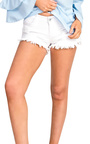 Brittany Distressed Denim Shorts Thumbnail
